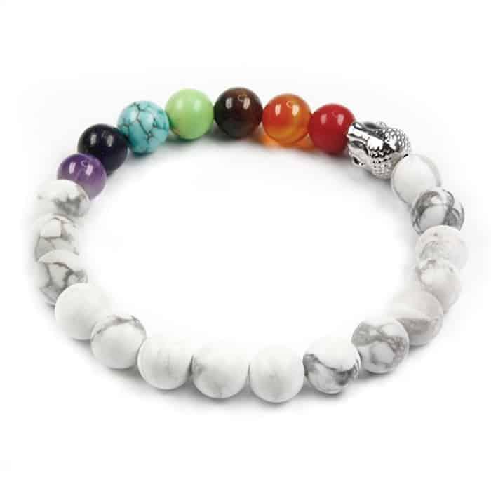 Bracelet 7 chakras en howlite Non classé