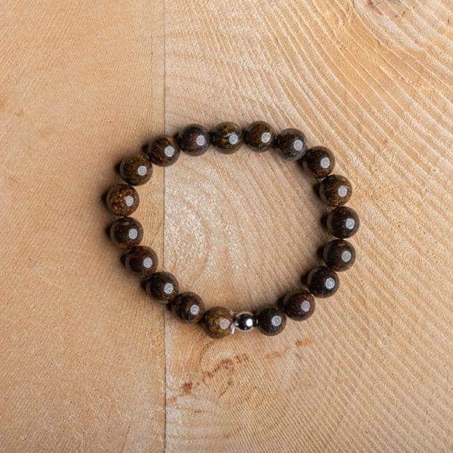 Bracelet Artisanal en Bronzite Bijoux en pierre naturelle Bracelet en pierre naturelle