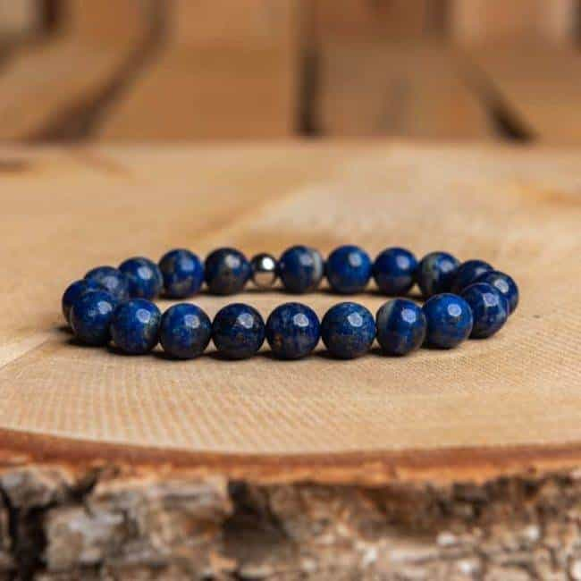 Bracelet Artisanal en Lapis Lazuli Bijoux en pierre naturelle Bracelet en pierre naturelle