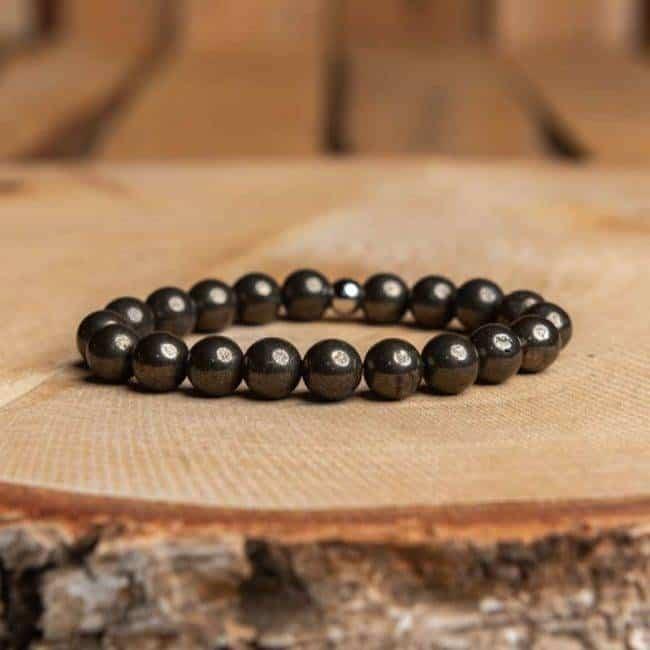 Bracelet Artisanal en Pyrite Bijoux en pierre naturelle Bracelet en pierre naturelle