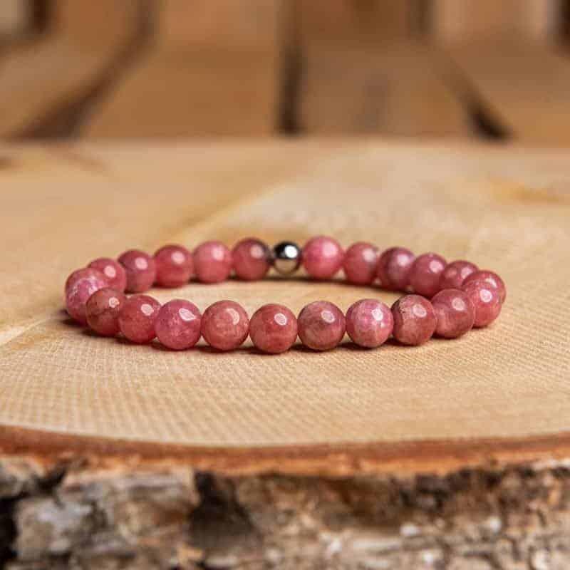 Bracelet Rhodochrosite Bijoux pierre naturelle Bracelet pierre naturelle