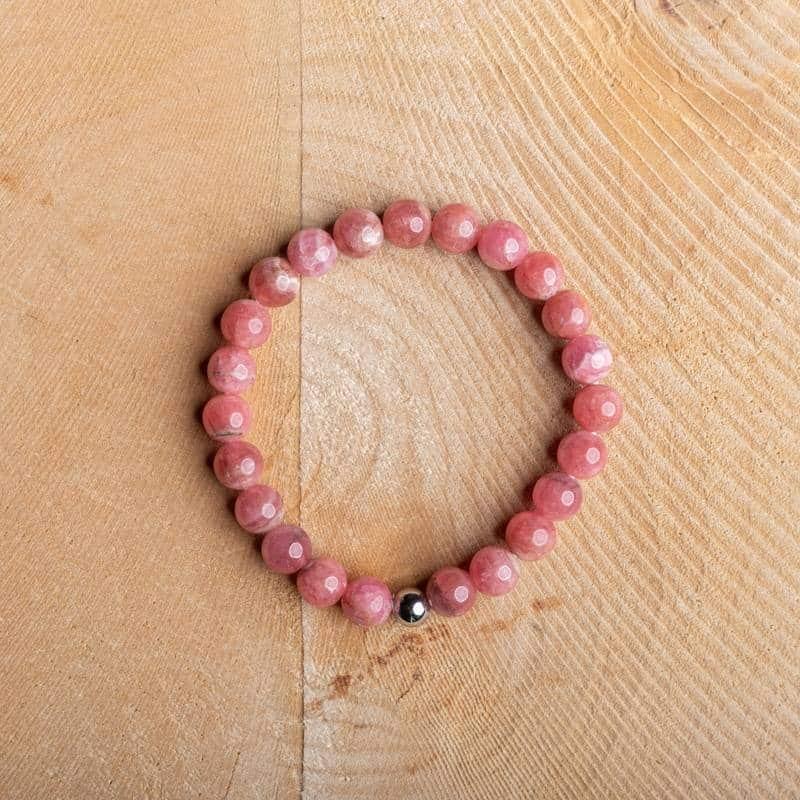 Bracelet Artisanal en Rhodochrosite Bijoux en pierre naturelle Bracelet en pierre naturelle