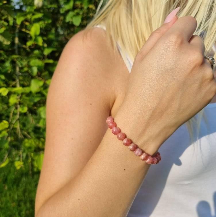 Bracelet Artisanal en Rhodocrosite