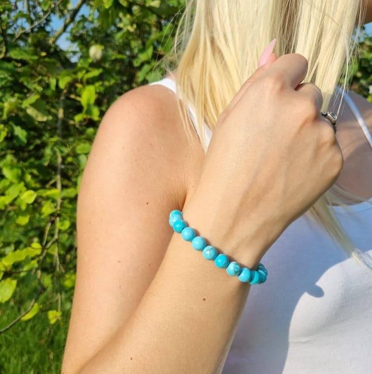 Bracelet artisanal en turquoise