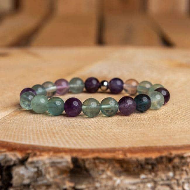 Bracelet Fluorite Bijoux pierre naturelle Bracelet pierre naturelle