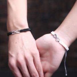 Bracelet couple infini Bracelet Couple