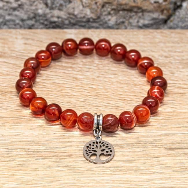 Bracelet Artisanal en Cornaline https://www.chakras-shop.com