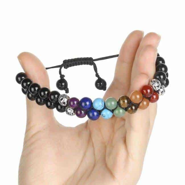 Double bracelet 7 chakras