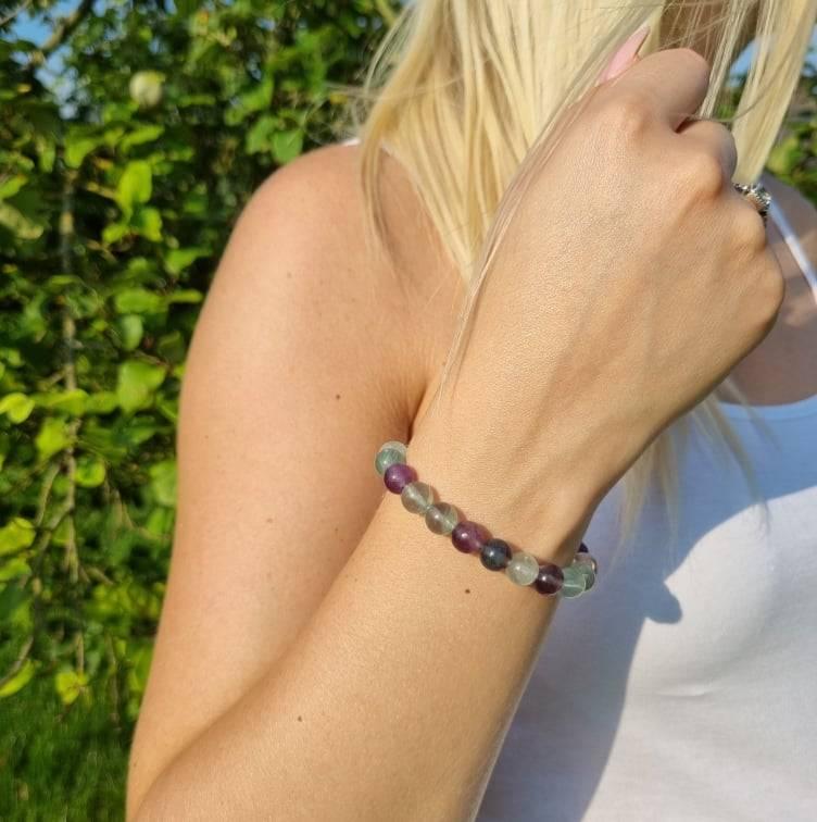 Bracelet artisanal en Fluorite https://www.chakras-shop.com