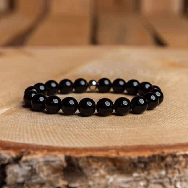 Bracelet Artisanal en Onyx noir