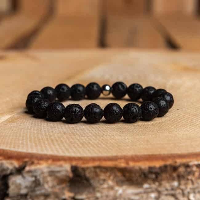 Bracelet en pierre naturelle de Pierre de Lave