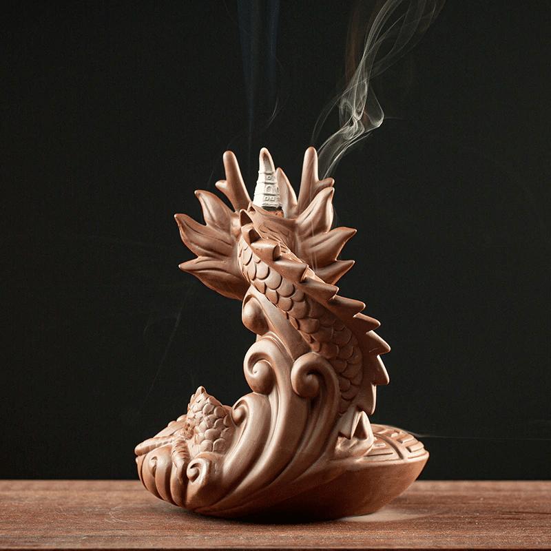 Porte encens tête de dragon https://www.chakras-shop.com