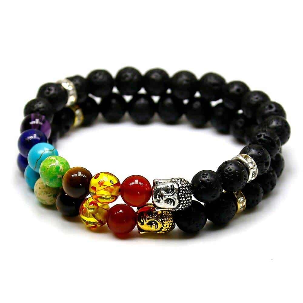 Bracelet 7 chakras bouddha Bijoux en pierre naturelle Bracelet en pierre naturelle Bracelets 7 chakras