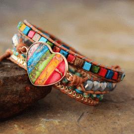 Bracelet 7 chakras femme Bijoux pierre naturelle Bracelet 7 chakras Bracelet pierre naturelle