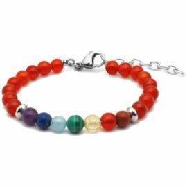 Bracelet 7 chakras femme Bijoux en pierre naturelle Bracelet en pierre naturelle Bracelets 7 chakras