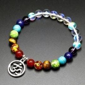 Bracelet de guérison 7 chakras Bijoux en pierre naturelle Bracelet en pierre naturelle Bracelets 7 chakras