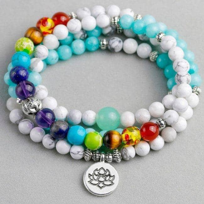 Bracelet Harmonisation des 7 Chakras Bijoux pierre naturelle Bracelet 7 chakras Bracelet pierre naturelle