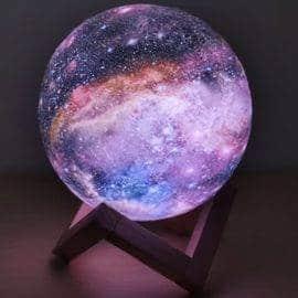 Lampe Lune Galaxie
