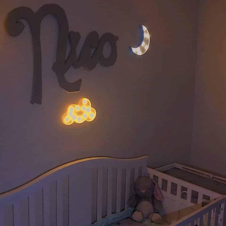 Lampe Lune de chevet bleue Lampe Lune Deco zen Lampe D'Ambiance