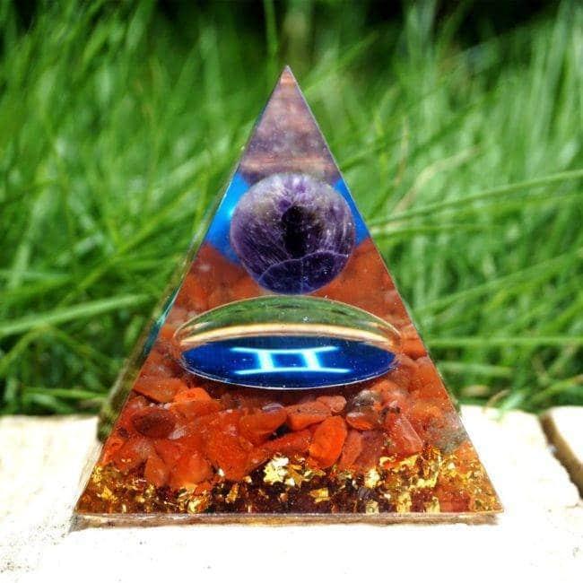 Orgonite Pyramide «Gémeaux» Orgonite