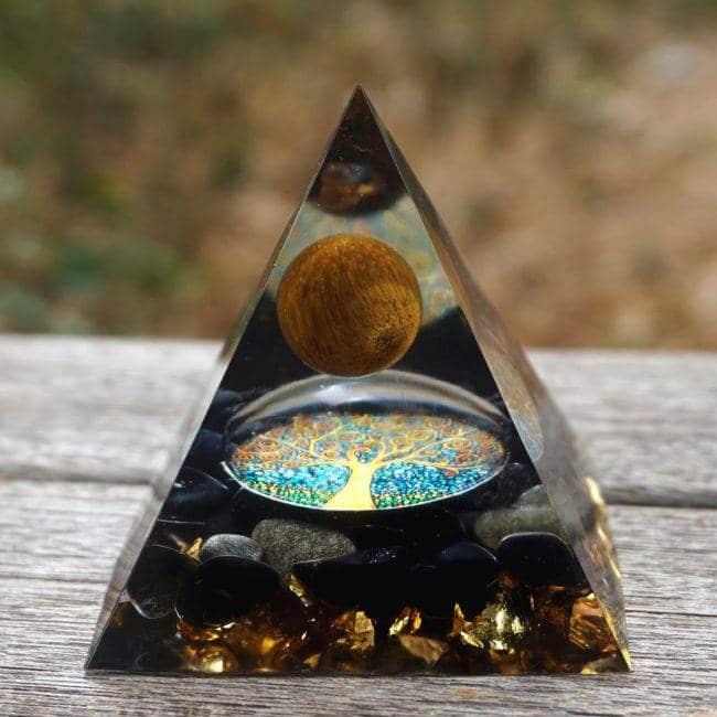 Orgonite Pyramide «Oeil de Tigre» Orgonite