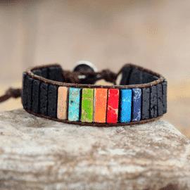 Véritable bracelet 7 chakras Bijoux pierre naturelle Bracelet 7 chakras Bracelet pierre naturelle
