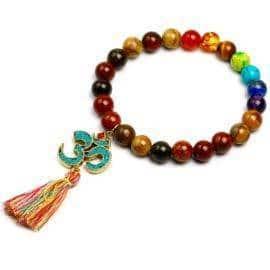 Bracelet tibétain 7 chakras Bijoux en pierre naturelle Bijoux homme en pierre naturelle Bracelet 7 chakras Bracelet en pierre naturelle