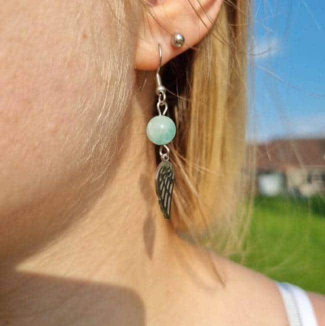 Boucles D'oreilles Amazonite Bijoux pierre naturelle Boucles d'oreilles pierre naturelle
