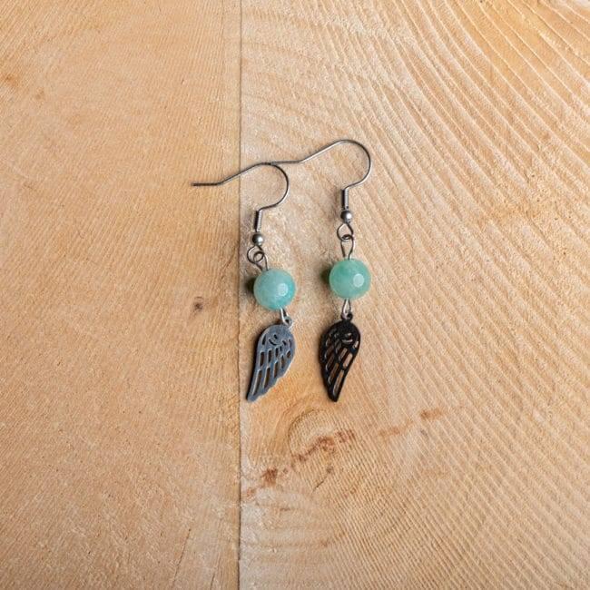 Boucles D'oreilles Amazonite https://www.chakras-shop.com