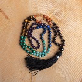 Collier Des 7 Chakras Bijoux pierre naturelle Collier pierre naturelle