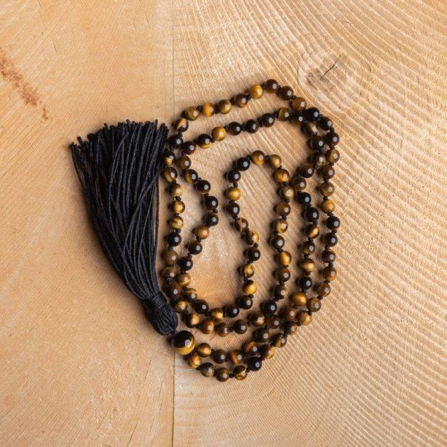 Collier Oeil De Tigre Protection Bijoux pierre naturelle Collier pierre naturelle Fil: Silicone
