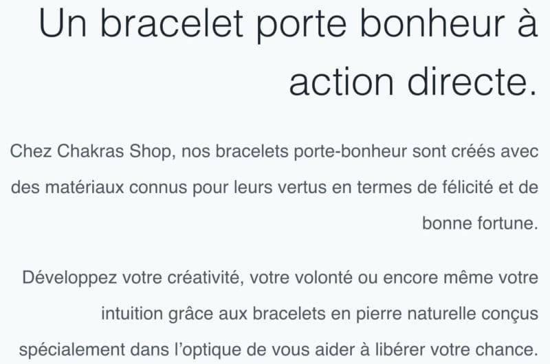 Bracelet Amour chance bonheur https://www.chakras-shop.com