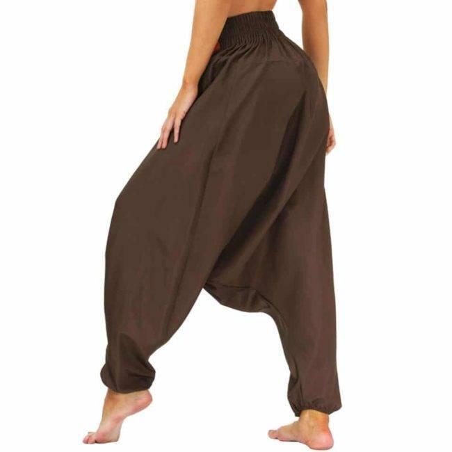 Pantalon Sarouel Large Marron Pantalon Sarouel Taille: S|M|L|XL