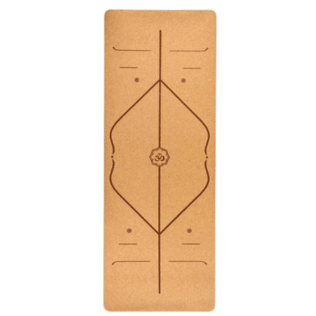Tapis De Yoga Avec Alignement Materiel De Yoga Tapis de Yoga Matériau: Liège écologique + TPE