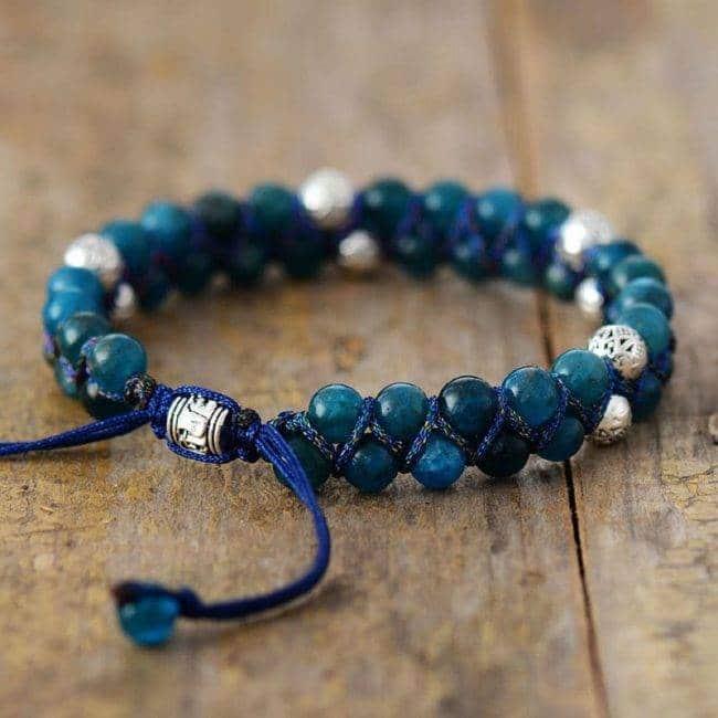 Bracelet en perles d'Apatite Bijoux pierre naturelle Bracelet pierre naturelle