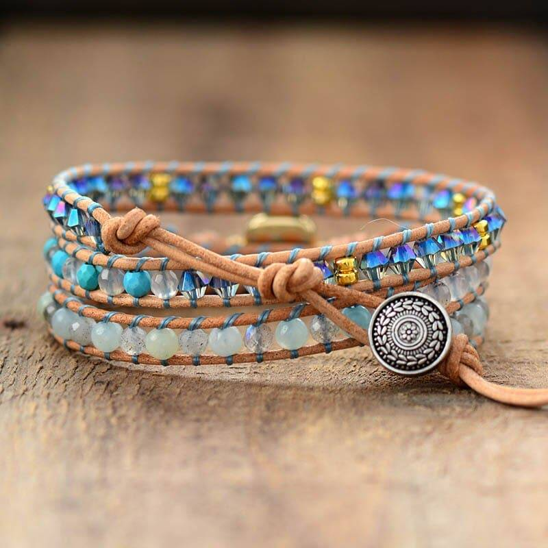 Bracelet pierre naturelle d'Opale carrée Bijoux pierre naturelle Bracelet pierre naturelle