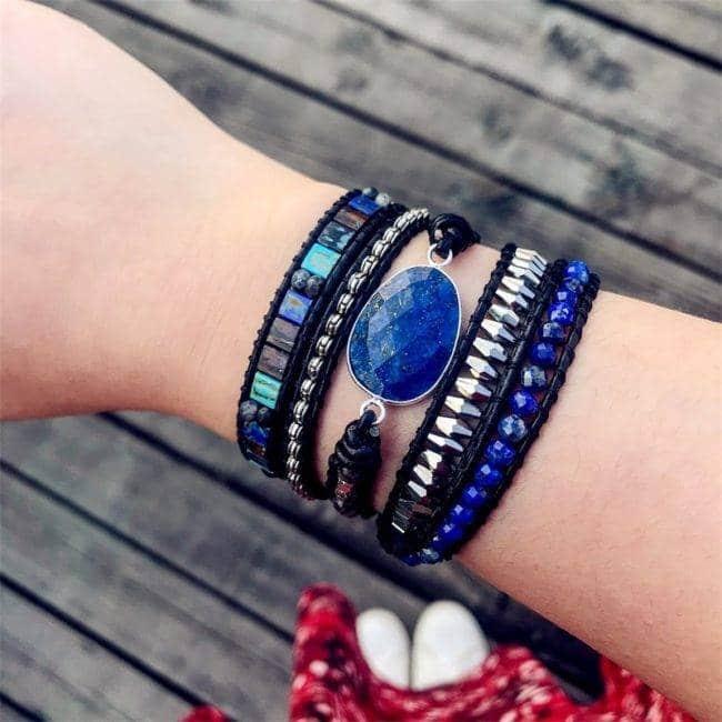 Bracelet en pierres naturelles et Lapis Lazuli Bijoux pierre naturelle Bracelet pierre naturelle