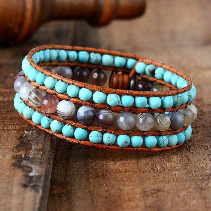 Bracelet pierres naturelles et Turquoise Bijoux pierre naturelle Bracelet pierre naturelle