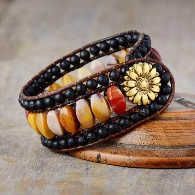 Bracelet pierre naturelle en Pierre de Lave Bijoux pierre naturelle Bracelet pierre naturelle